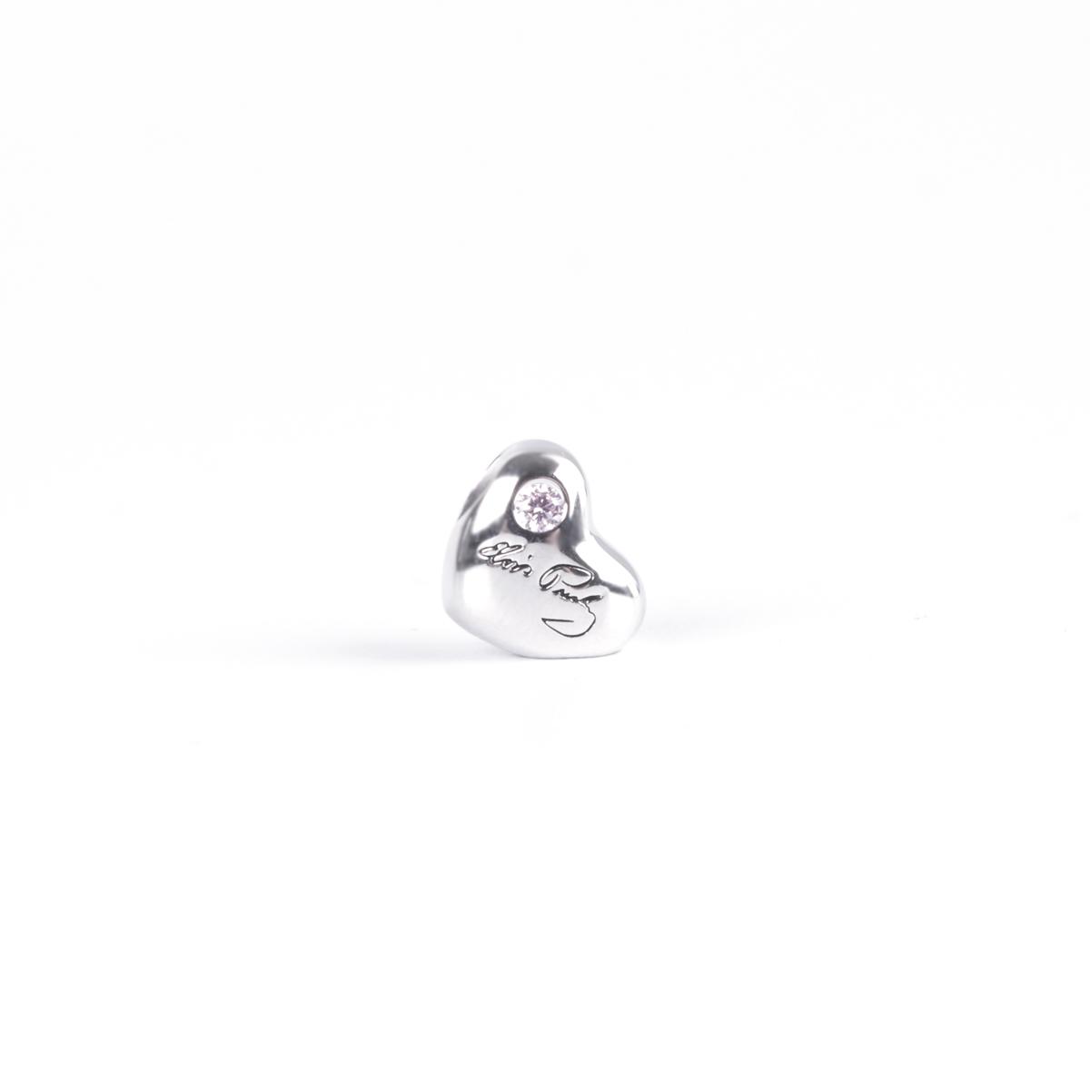 Elvis Silver Charm - Signature Heart Bead