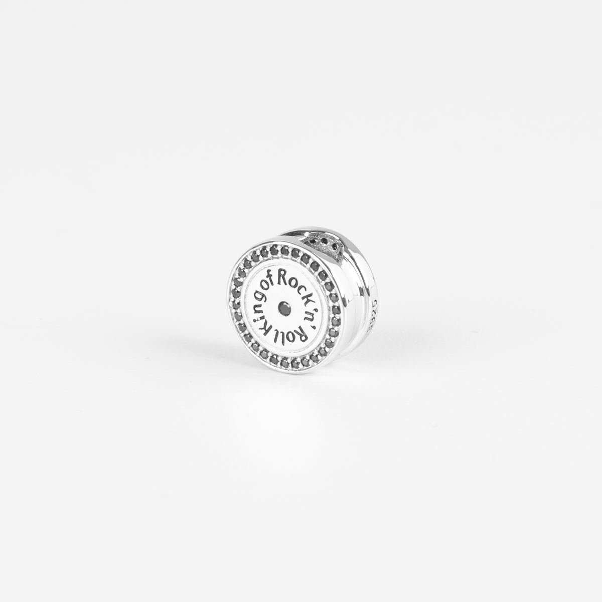 Elvis Silver Charm - Record Bead