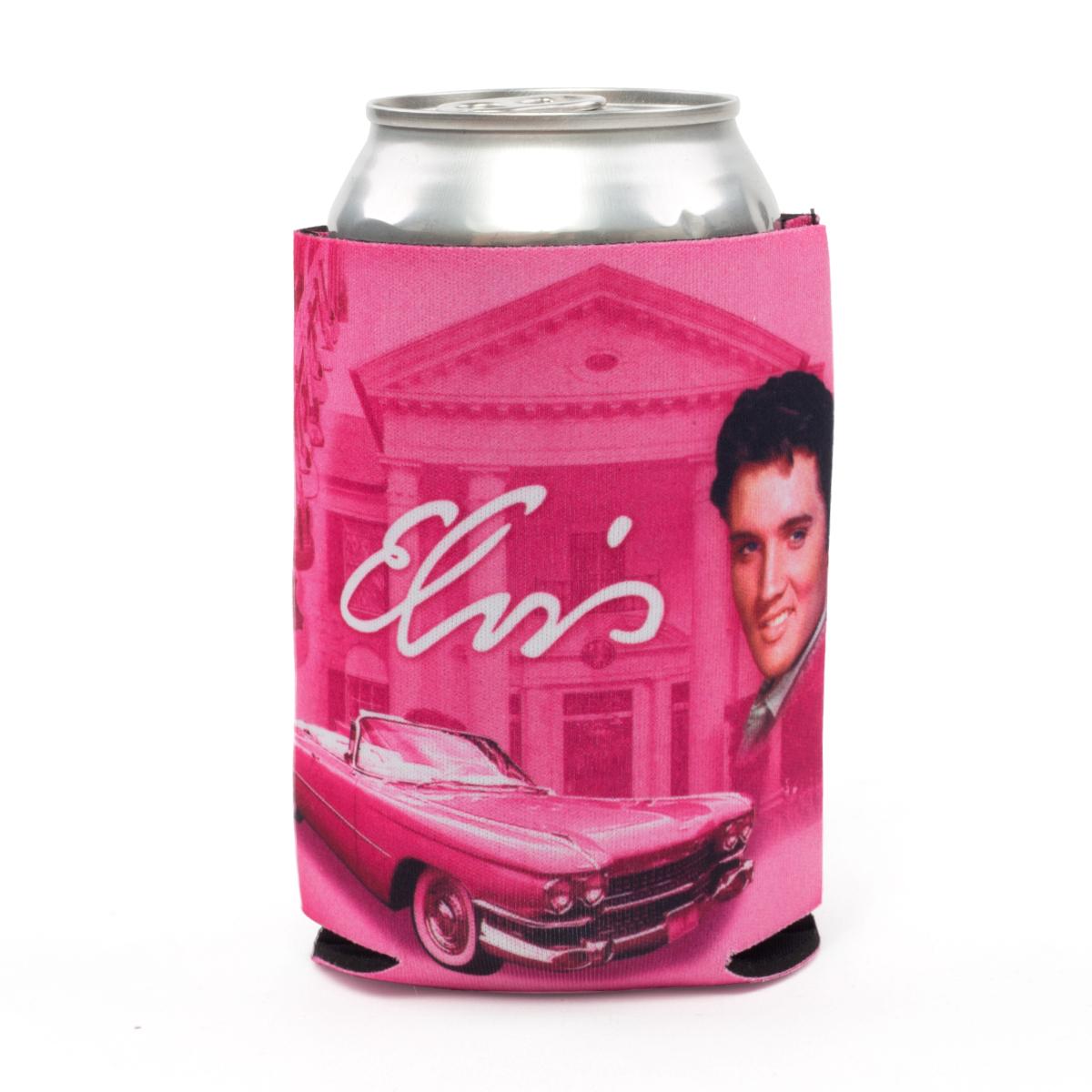 Elvis Presley Pink Cadillac/Graceland Can Cooler