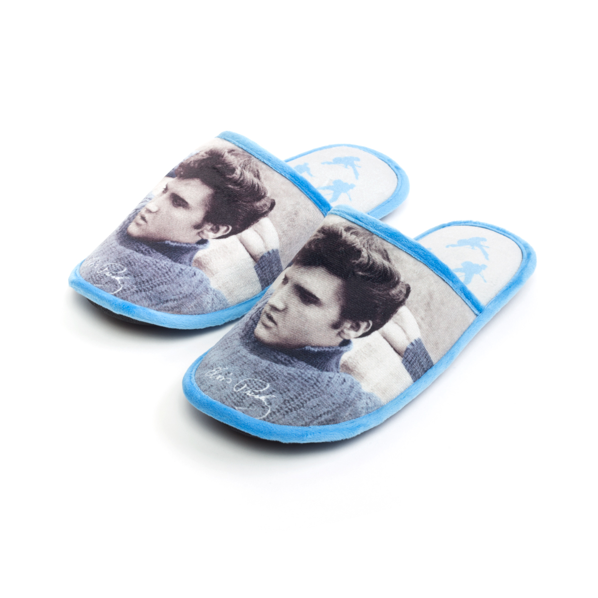 Elvis Presley Blue Sweater Slippers
