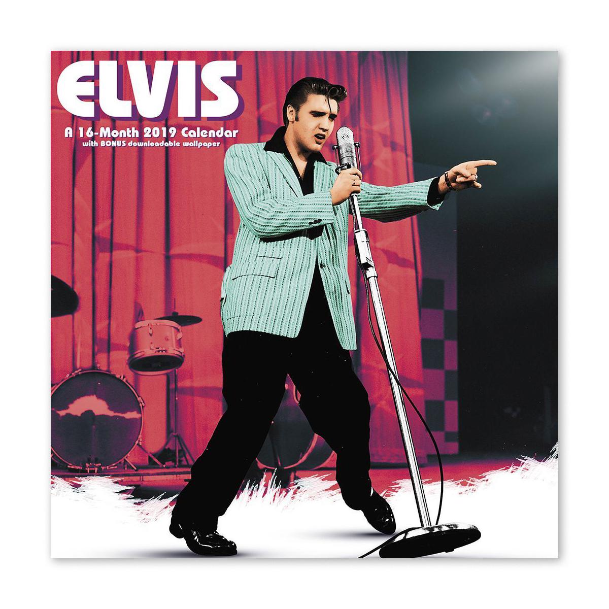 "Elvis Presley 7"" x 7"" 2019 Mini Calendar"