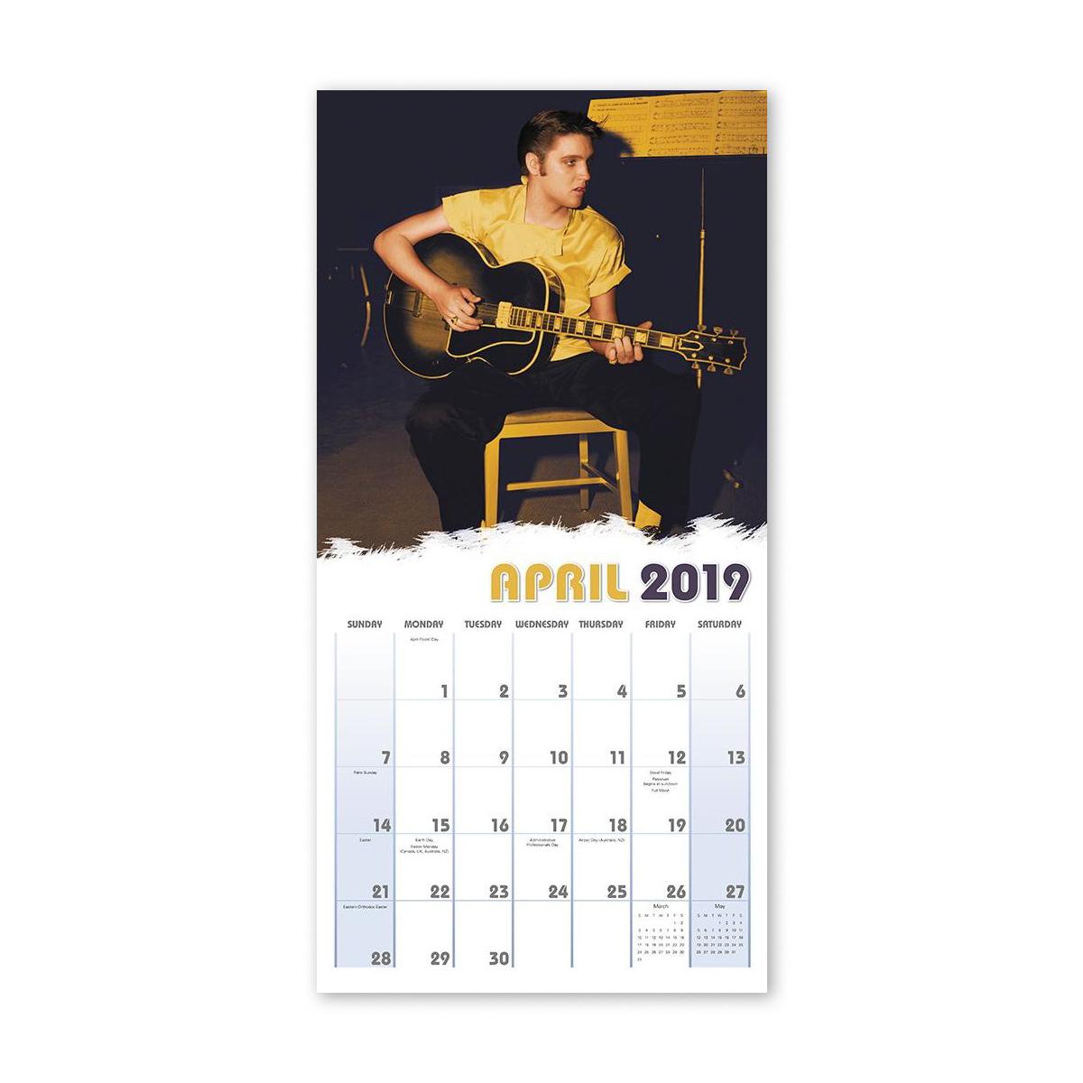 "Elvis Presley 12"" x 12"" 2019 Wall Calendar"