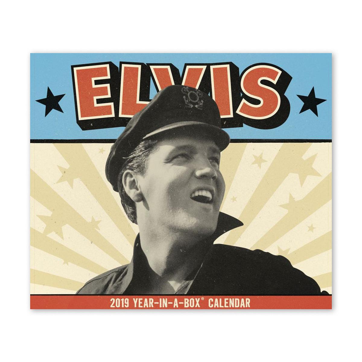 """Elvis Presley 5"""" x 4.37"""" 2019 Year-In-A-Box Calendar"""