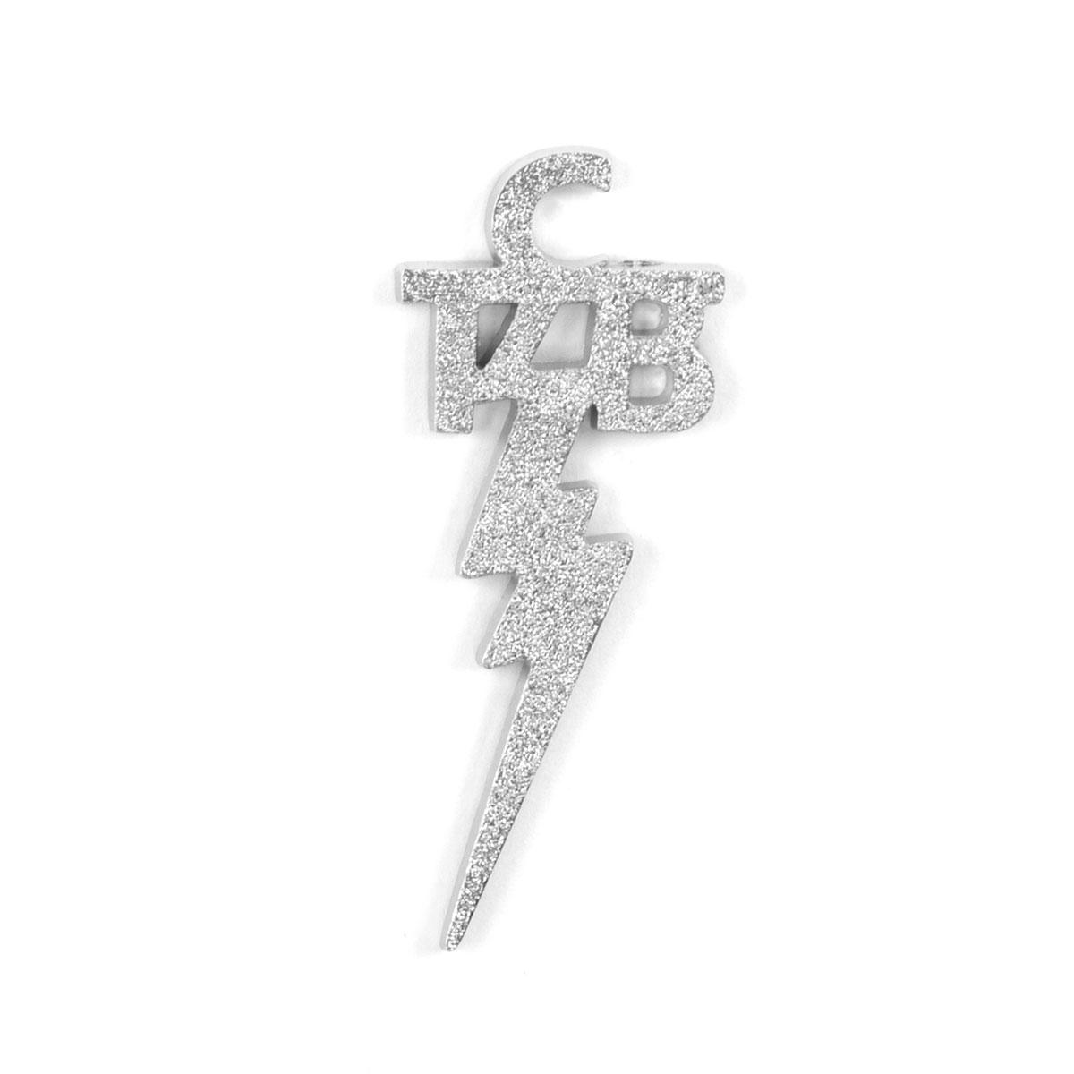 Elvis Silver TCB Magnet