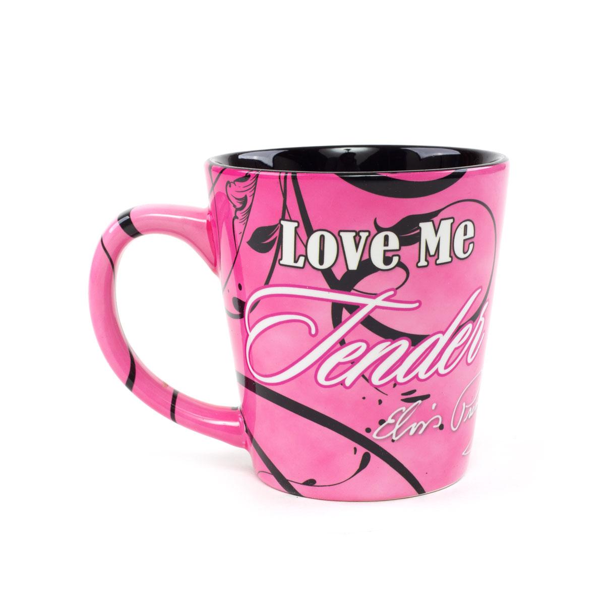 Elvis Love Me Tender Pink Mug