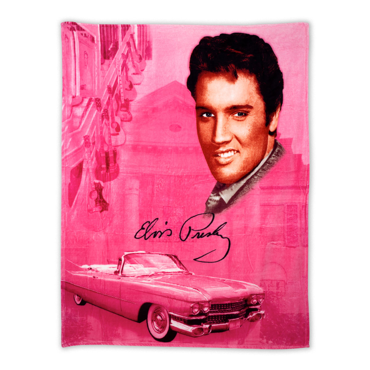 Elvis Presley Pink Cadillac Throw