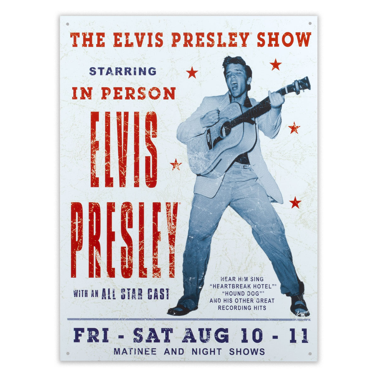 Elvis Presley in Show Sign
