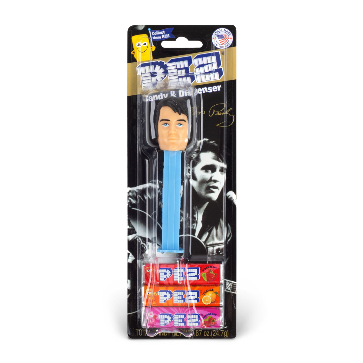 Elvis Presley 60's Blue Pez Dispenser