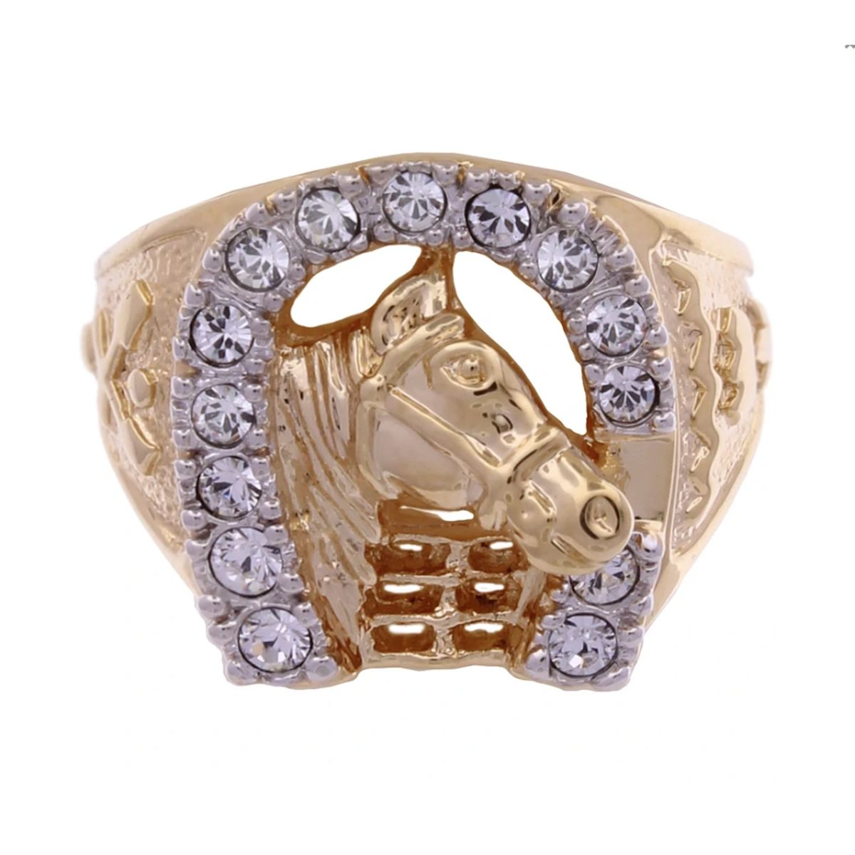 Lowell Hays 18K Gold Plated Horseshoe Ring