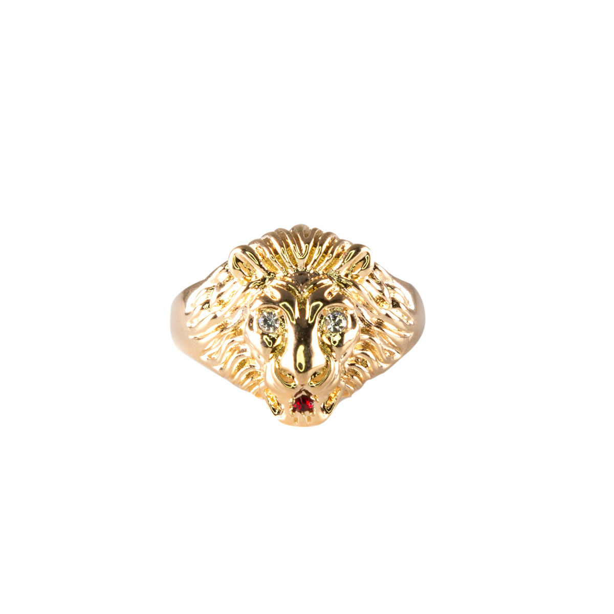 Lowell Hays 18K Gold Lion Head Ring