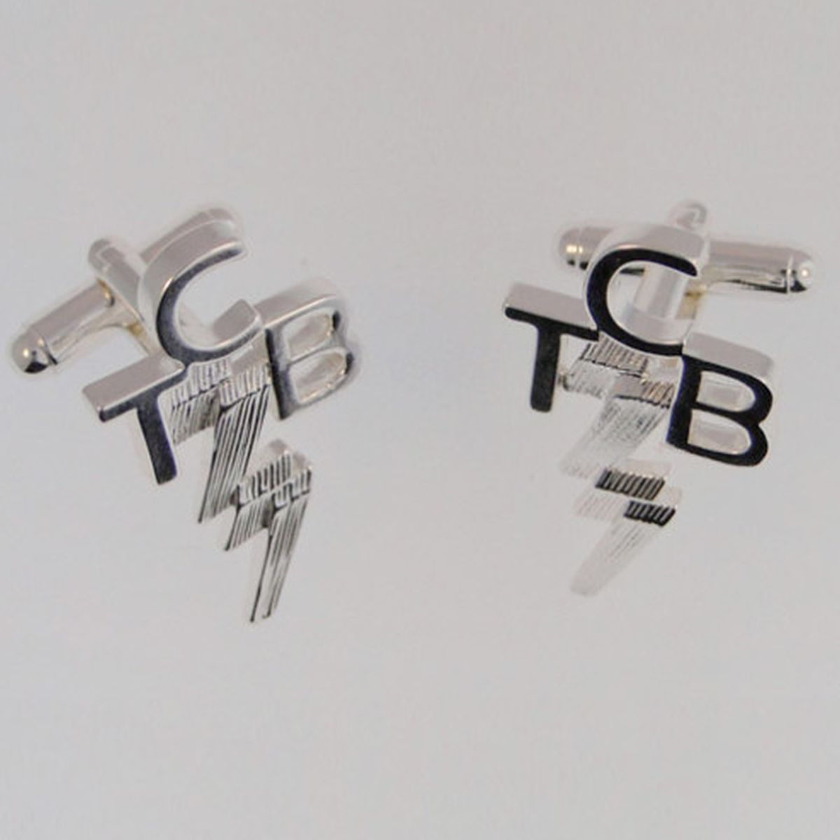 Lowell Hays Sterling Silver TCB Cuff Links