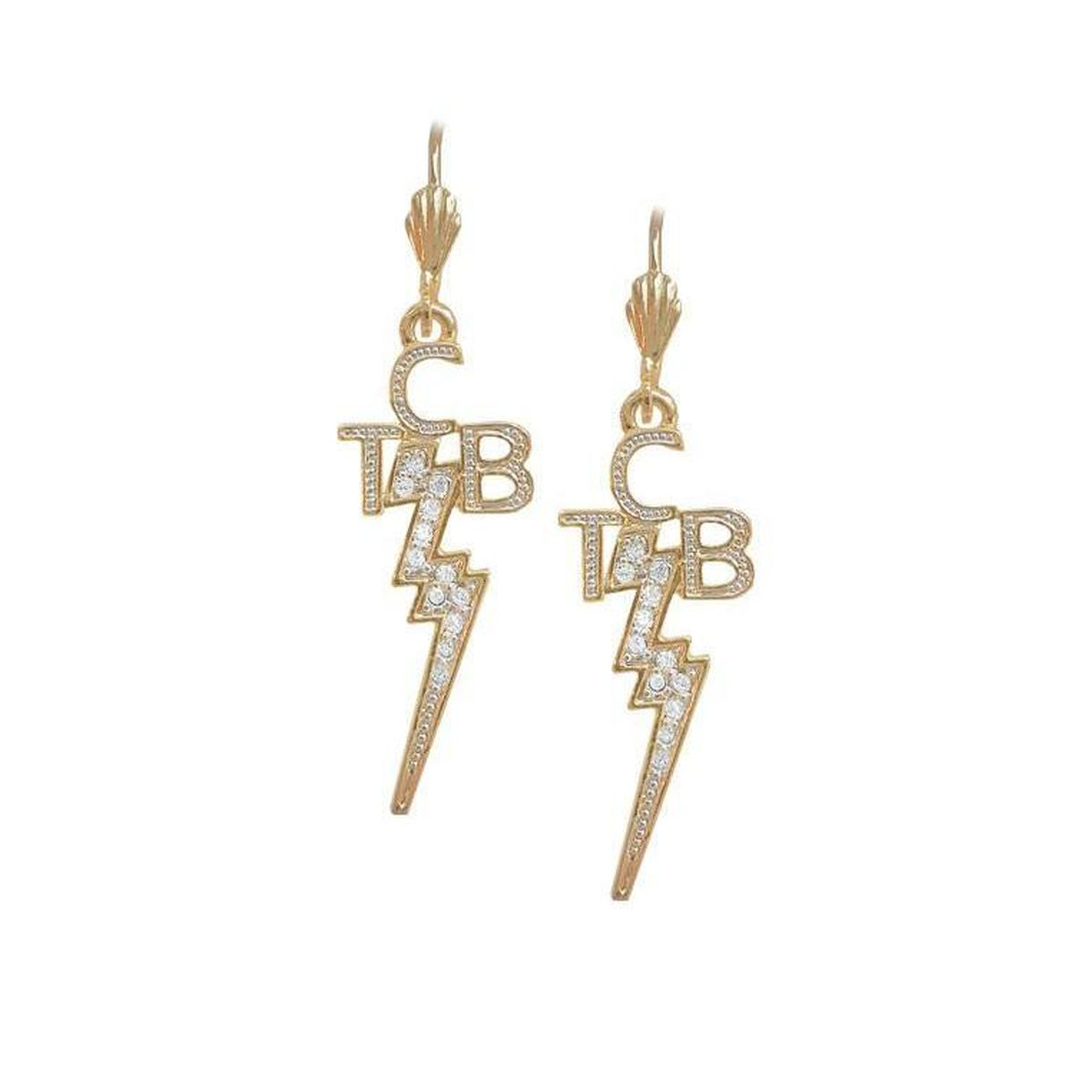 Lowell Hays 18K Gold Plated TCB Earrings with Swarovski Crystals