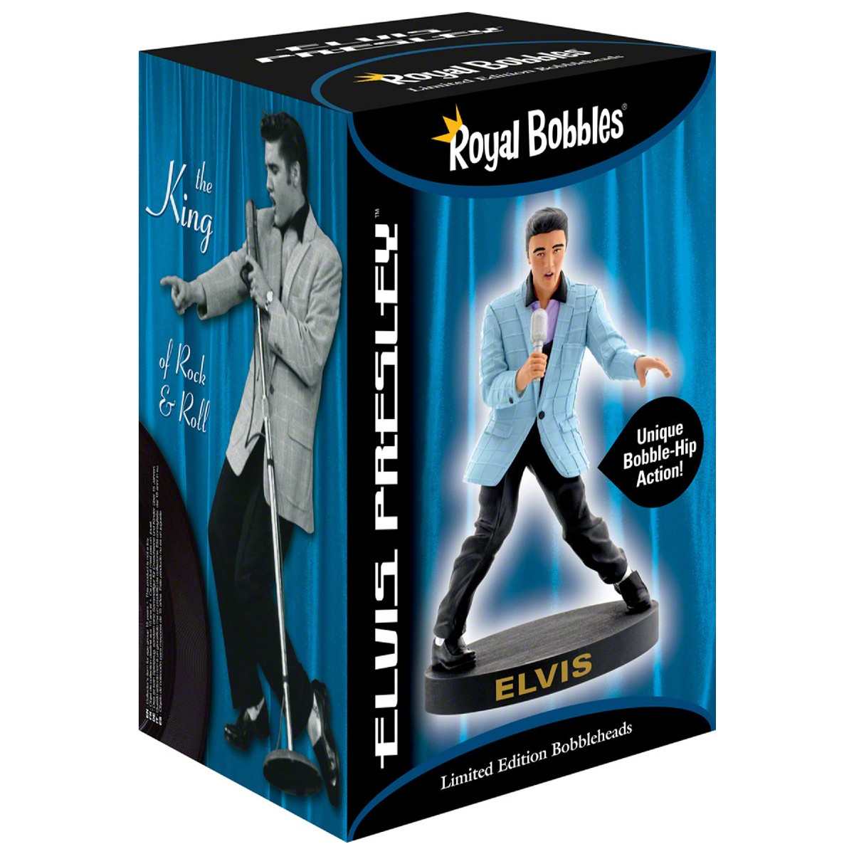 Elvis Blue Jacket Bobblehips Bobblehead