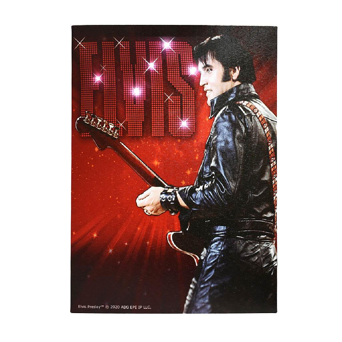 Elvis 68 with Lights Canvas Print