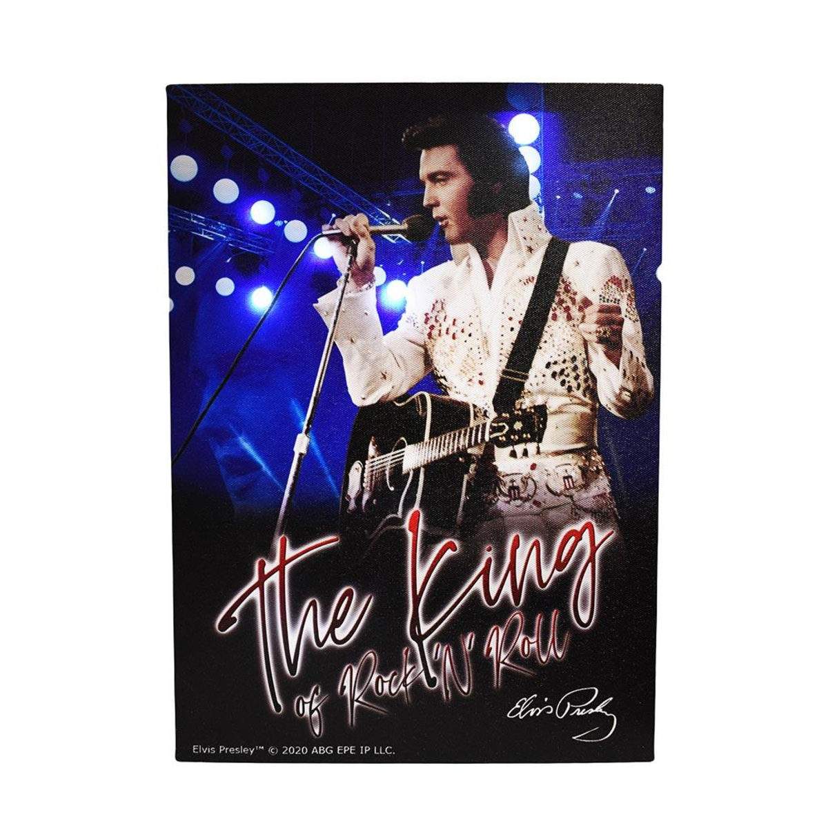Elvis The King with Lights Canvas Print