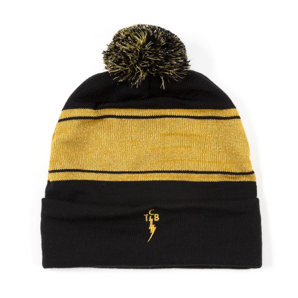 TCB Gold Knit Pom Beanie