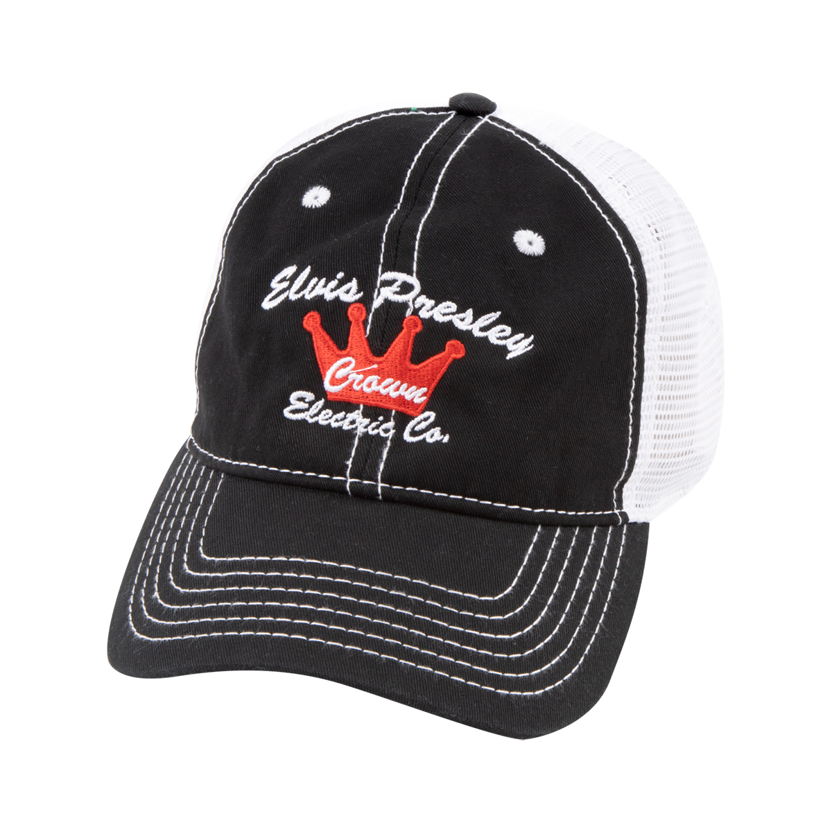 Elvis Presley Crown Electric Co Trucker Hat