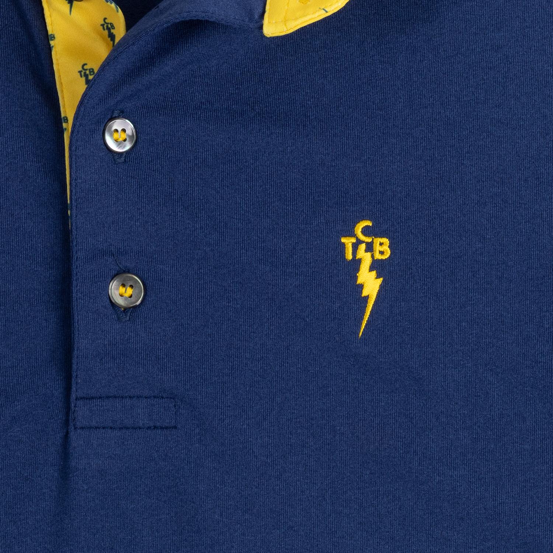 TCB OG Performance Polo - Navy and Yellow