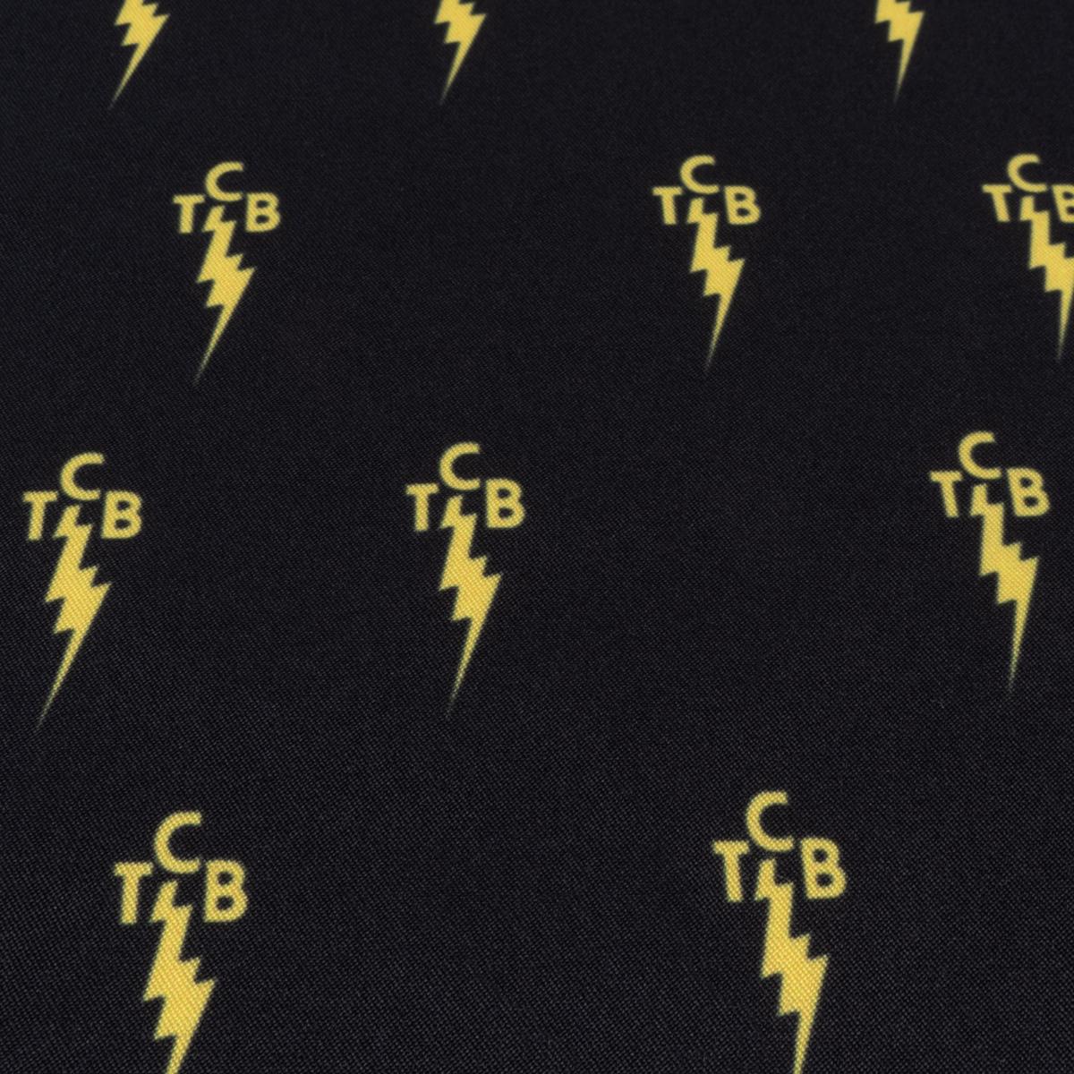 TCB Board Shorts - Black and Yellow