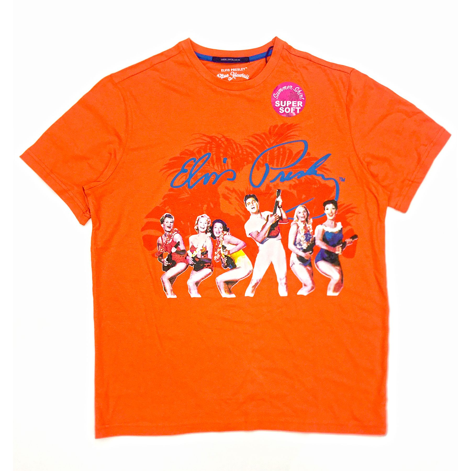 Orange Elvis Presley Ukulele Dancers T-Shirt