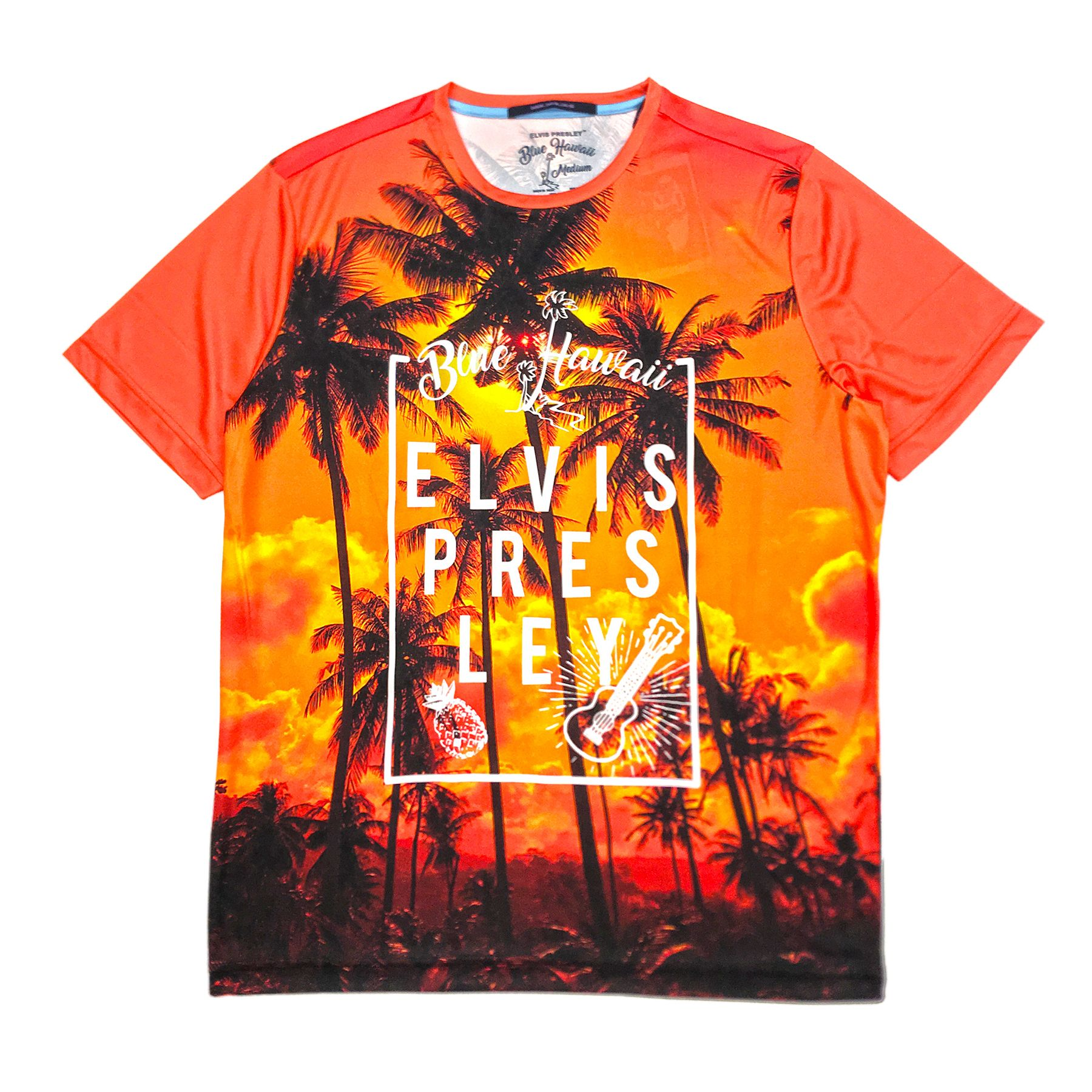 Orange Elvis Presley Hawaiian Sunset T-Shirt