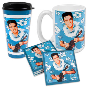 Elvis Blue Hawaii Drink Set