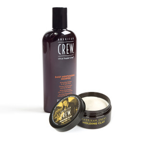 American Crew King Molding Clay + Daily Shampoo Bundle