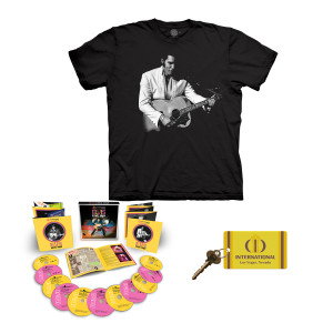 Elvis LIVE 1969 International Hotel T-Shirt + CD + Key Fob Bundle