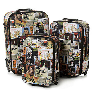 Elvis Collage 3 Piece Luggage Set