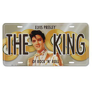 Elvis The King License Plate