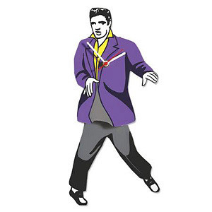 Elvis Swinging Legs Motion Clock