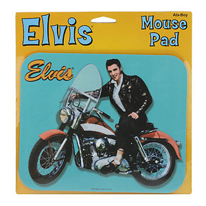 Elvis Motorcycle Mouse Pad