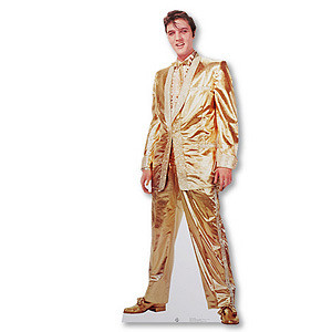 Elvis in Gold Lifesize Stand-up