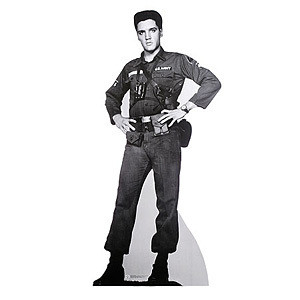 Lifesize Talking Elvis G.I. Blues