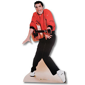 Jailhouse Rock Guitar Lifesize Talking Stand-up