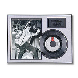 Elvis Don't Be Cruel Framed Record