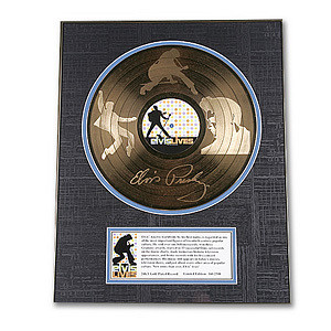 Elvis Lives Etched Gold Record