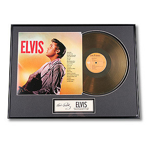 Elvis Framed Gold Record
