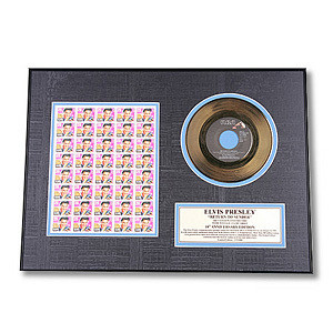 Elvis Return To Sender Framed Gold Record