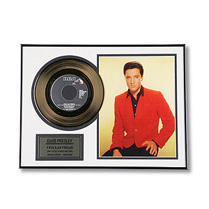 Elvis Viva Las Vegas Framed Gold Record