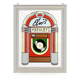 Elvis Jukebox Stained Glass