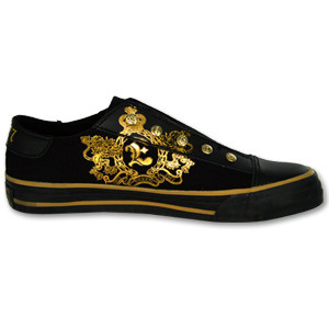 Elvis 1977 30th Anniversary Men's Black/Gold Shoe