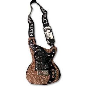 EP Elvis Guitar Hand Bag - Leopard Print
