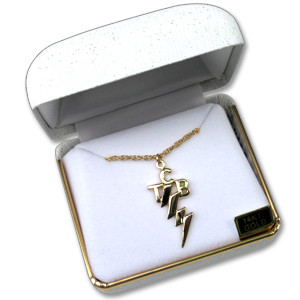 Elvis TCB Charm Small 14KT Gold