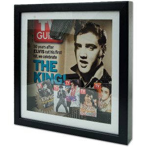 Elvis TV Guide Shadow Box