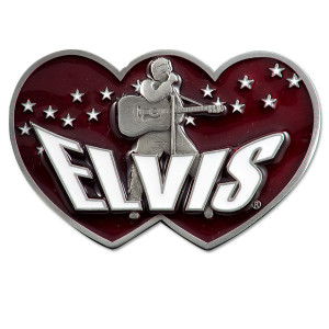 Elvis Double Heart Belt Buckle
