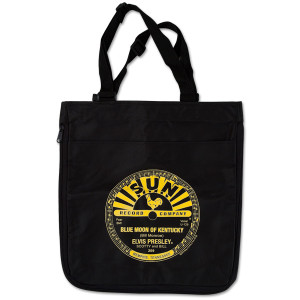 Blue Moon of Kentucky Black Elvis Tote Bag