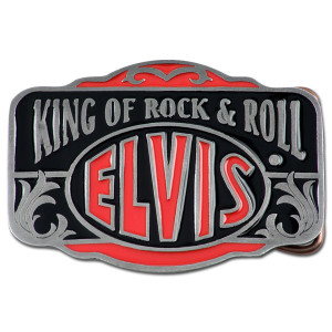 Elvis King of Rock & Roll Elvis Belt Buckle