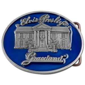 Elvis Blue Graceland Belt Buckle