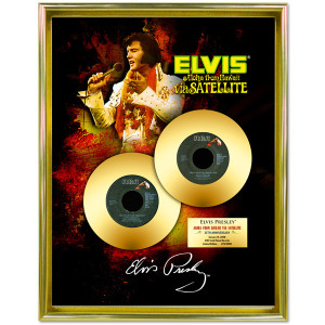 Elvis Aloha From Hawaii Via Satellite - 35th Anniversary Framed Gold Record Tribute